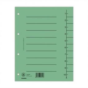 Regiszter, karton, A4, DONAU, zöld [100 db]
