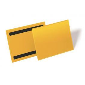 Logisztikai zseb, A5, fekvő, DURABLE, mágnessel, sárga [50 db]