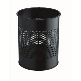 Papírkosár, fém, 15 liter, DURABLE, fekete