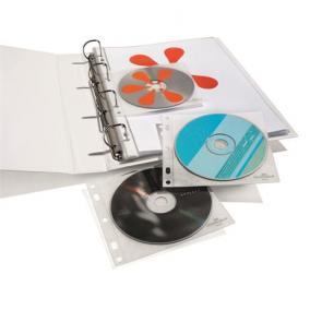 CD/DVD tartó zseb, lefűzhető, DURABLE [10 db]