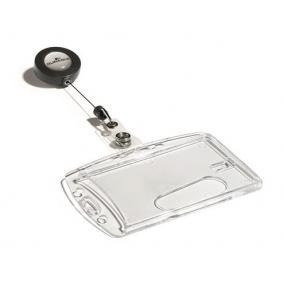 Azonosítókártya-tartó, kihúzható, akril, zárt, DURABLE [10 db]