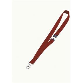 Azonosítókártya-tartó, nyakba akasztható, biztonsági csattal, DURABLE, piros [10 db]