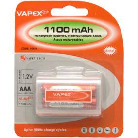 VAPEX 1100mAh 2db AAA akkumlátor