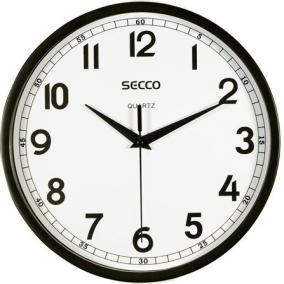 Falióra, 24 cm,  SECCO, fekete