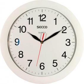 Falióra, 28 cm, SECCO, fehér keretes