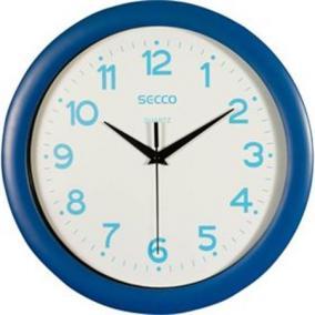 Falióra, 30 cm, kék keretes, kék számokkal, SECCO