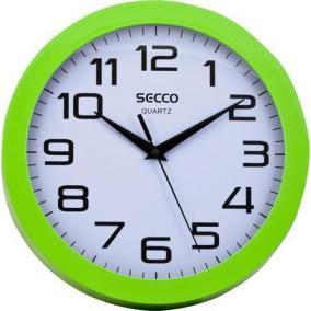 Falióra, 25 cm, zöld keretes, SECCO