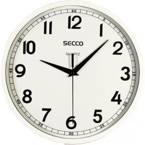 Falióra, 24 cm,  SECCO, fényes fehér keret