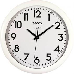 Falióra, 40 cm, SECCO, fehér keretes