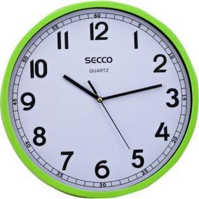 Falióra, 30 cm, SECCO, zöld keret