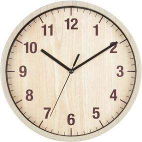 Falióra, kör alakú, 25 cm, arab számlap, SECCO, barna