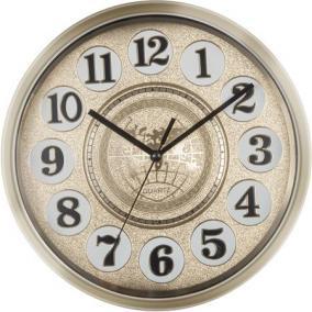 Falióra, kör alakú, 25 cm, arab számlap, SECCO, arany
