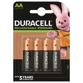 Tölthető elem, AA ceruza, 4x2500 mAh, DURACELL [4 db]