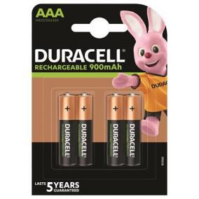 Tölthető elem, AAA mikro, 4x900 mAh, DURACELL [4 db]