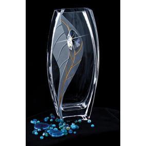 Váza, üveg, 26 cm, LORENTINA,