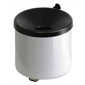 Fali hamutartó, acél, VEPA BINS, fehér-fekete