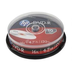 DVD+R lemez, 4,7 GB, 16x, hengeren, HP [10 db]