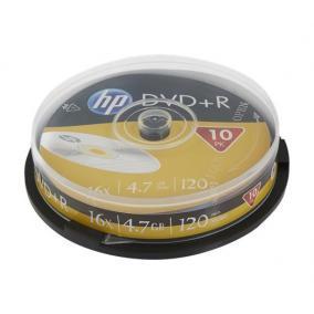 DVD-R lemez, 4,7 GB, 16x, hengeren, HP [10 db]