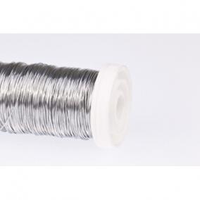 Dekordrót sima 0,3 mm ezüst 100 gr