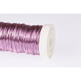Dekordrót sima 0,5 mm rózsaszín 100 gr