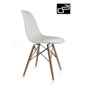 Design szék G21 Timber White