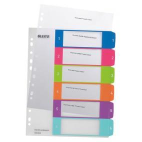 Regiszter, A4 Maxi, 1-6, nyomtatható, LEITZ