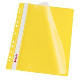 Gyorsfűző, lefűzhető, PP, A4, ESSELTE, sárga [10 db]