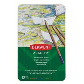 Akvarell ceruza készlet, fém doboz, DERWENT