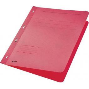 Gyorsfűző, lefűzhető, karton, A4, LEITZ, piros [50 db]