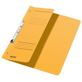 Gyorsfűző, lefűzhető, karton, A4 feles, LEITZ, sárga [50 db]