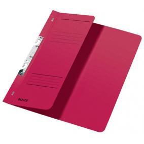 Gyorsfűző, lefűzhető, karton, A4 feles, LEITZ, piros [50 db]