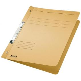 Gyorsfűző, karton, fémszerkezettel, A4, LEITZ, sárga [50 db]