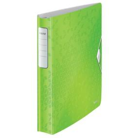 Gyűrűs könyv, 4 gyűrű, D alakú, 52 mm, A4, PP, LEITZ