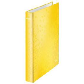 Gyűrűs könyv, 4 gyűrű, D alakú, 40 mm, A4 Maxi, karton, lakkfényű, LEITZ