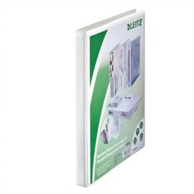 Gyűrűs könyv, panorámás, 2 gyűrű, 30 mm, A4 Maxi, PP, LEITZ, fehér