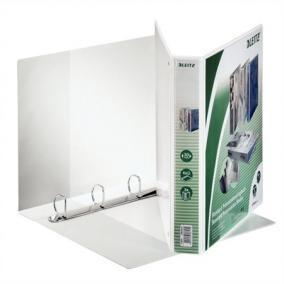 Gyűrűs könyv, panorámás, 4 gyűrű, D alakú, 51 mm, A4 Maxi, PP, LEITZ, fehér