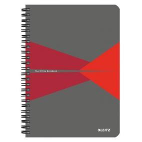 Spirálfüzet, A5, kockás, 90 lap, laminált karton borító, LEITZ