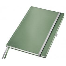 Jegyzetfüzet, A4, kockás,  80 lap, keményfedeles, LEITZ