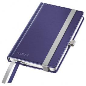 Jegyzetfüzet, A6, vonalas, 80 lap, keményfedeles, LEITZ Style, titánkék