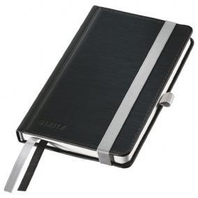 Jegyzetfüzet, A6, kockás, 80 lap, keményfedeles, LEITZ Style, szaténfekete
