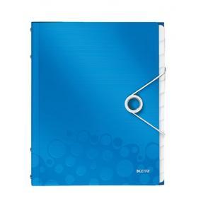 Előrendező, A4, 12 részes, műanyag, LEITZ Wow, kék
