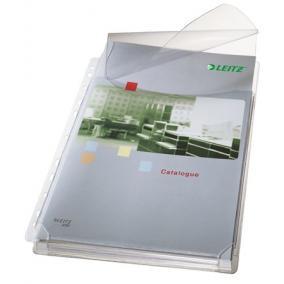 Genotherm, lefűzhető, A4, 170 mikron, narancsos, 20 mm, behajtható fül, LEITZ
