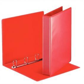 Gyűrűs könyv, panorámás, 4 gyűrű, D alakú, 50 mm, A4, PP, ESSELTE, piros