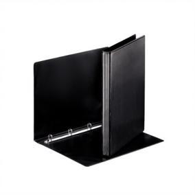 Gyűrűs könyv, panorámás, 4 gyűrű, 25 mm, A4, PP, ESSELTE, fekete