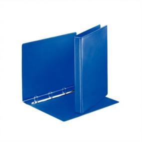 Gyűrűs könyv, panorámás, 4 gyűrű, D alakú, 35 mm, A4, PP, ESSELTE, kék