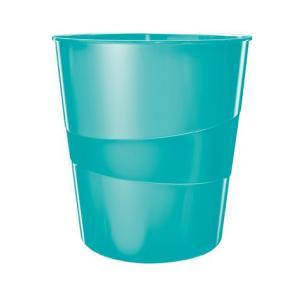 Papírkosár, 15 liter, LEITZ Wow, jégkék