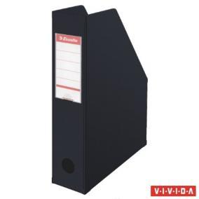 Iratpapucs, PVC/karton, 70 mm, összehajtható, ESSELTE, Vivida fekete
