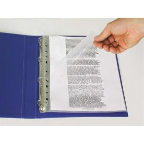 Genotherm, felül és a belső oldalon nyitott, lefűzhető, A4, 115 mikron, narancsos, ESSELTE [100 db]