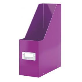 Iratpapucs, PPkarton, 95 mm, lakkfényű, LEITZ Click&Store, lila
