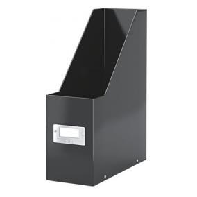 Iratpapucs, PPkarton, 95 mm, lakkfényű, LEITZ Click&Store, fekete